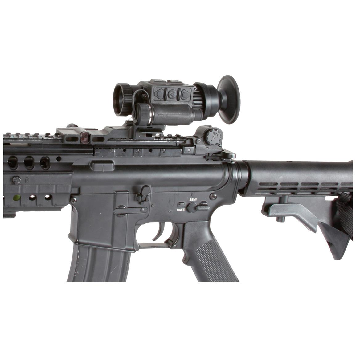 The mini-rail design allows for mounting on a wide variety of in-service head mounts, helmet mounts, reflex cameras, digital video recorders, and MIL-STD-1913 weapon rail systems using the optional quick-release interfaces