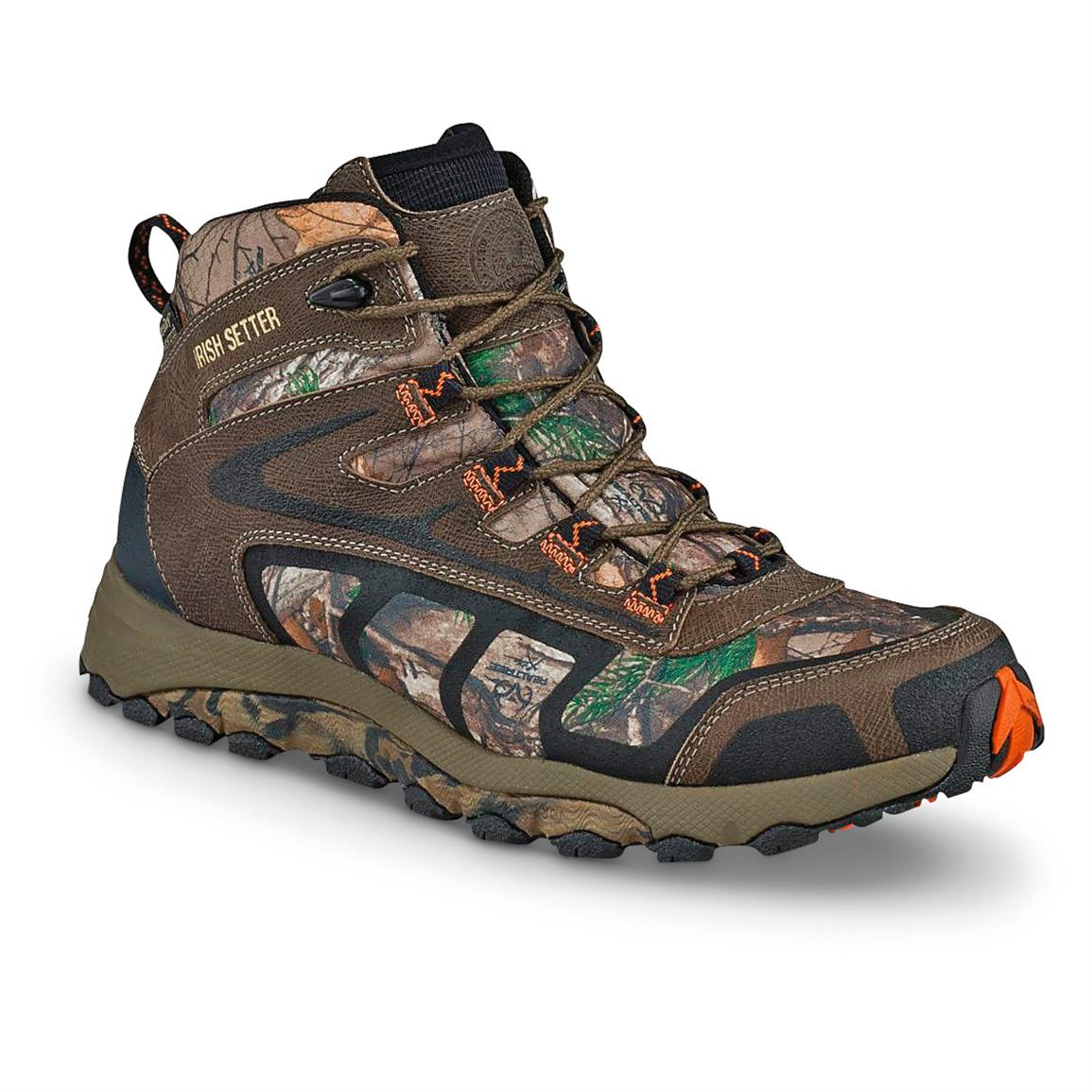 Irish Setter Men's Drifter Trail Waterproof Hiking Boots, Gray / Realtree Xtra