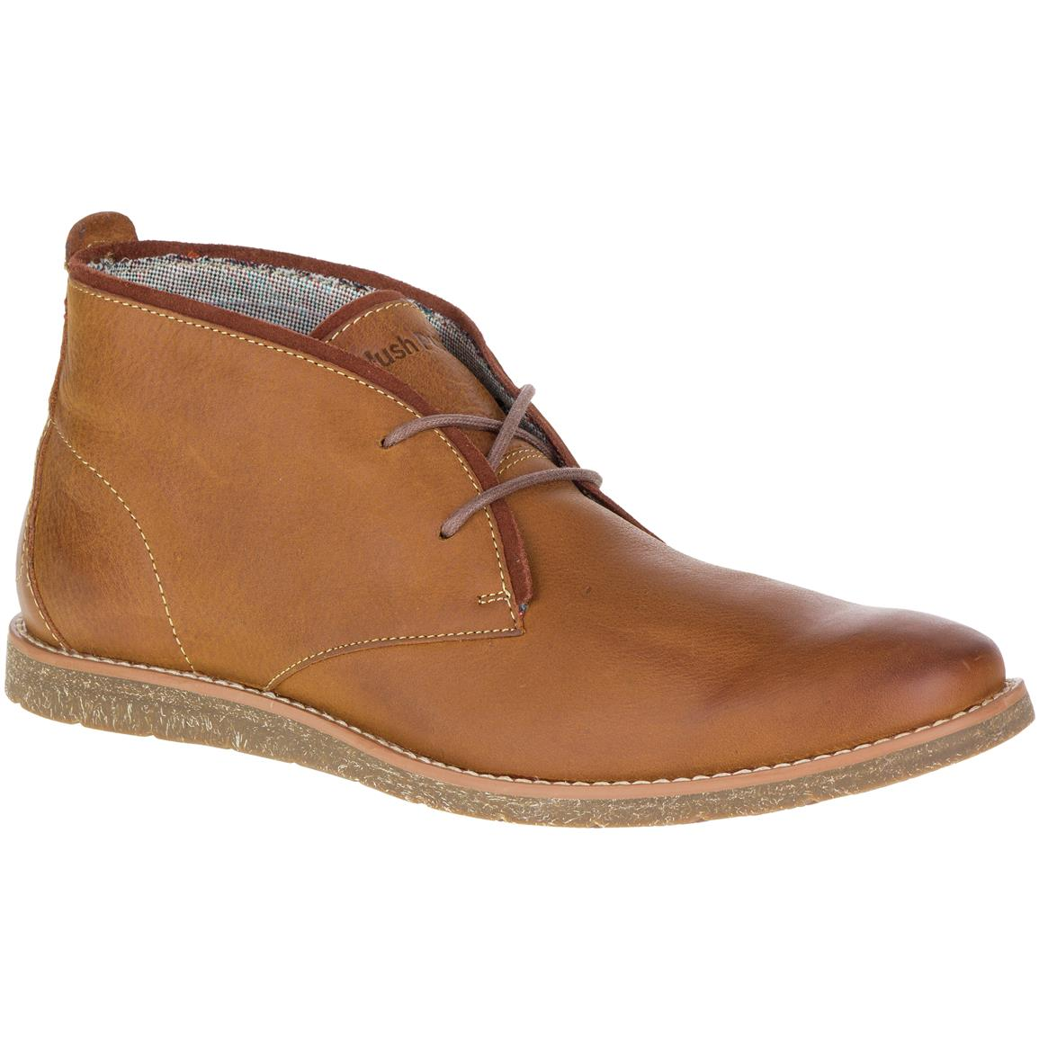 Hush Puppies Men's  Roland Jester Chukka Boots, Tan Leather