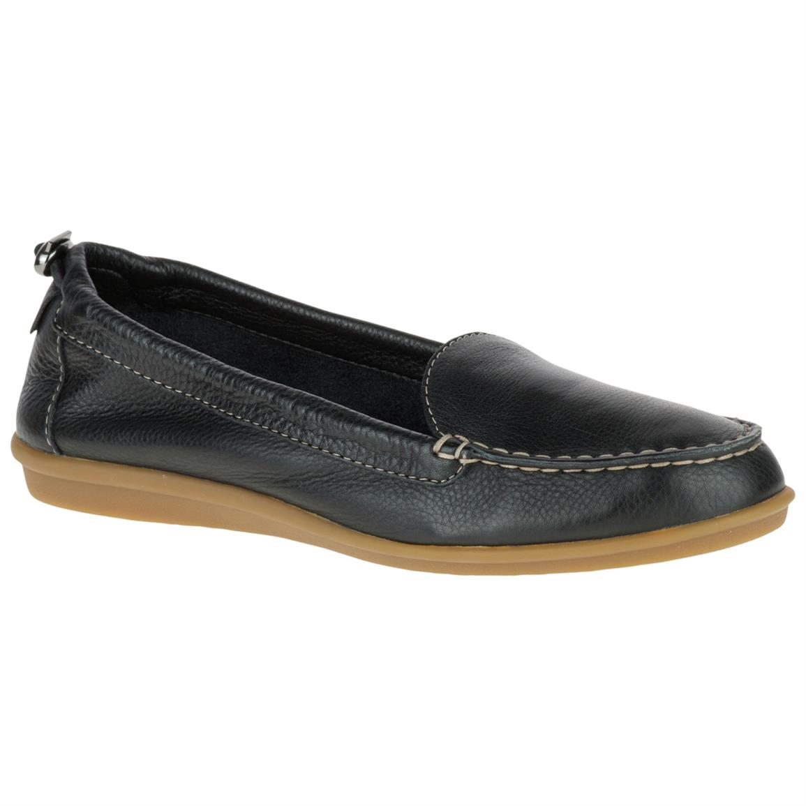 Hush Puppies Women's Endless Wink Casual Shoes, Black Leather