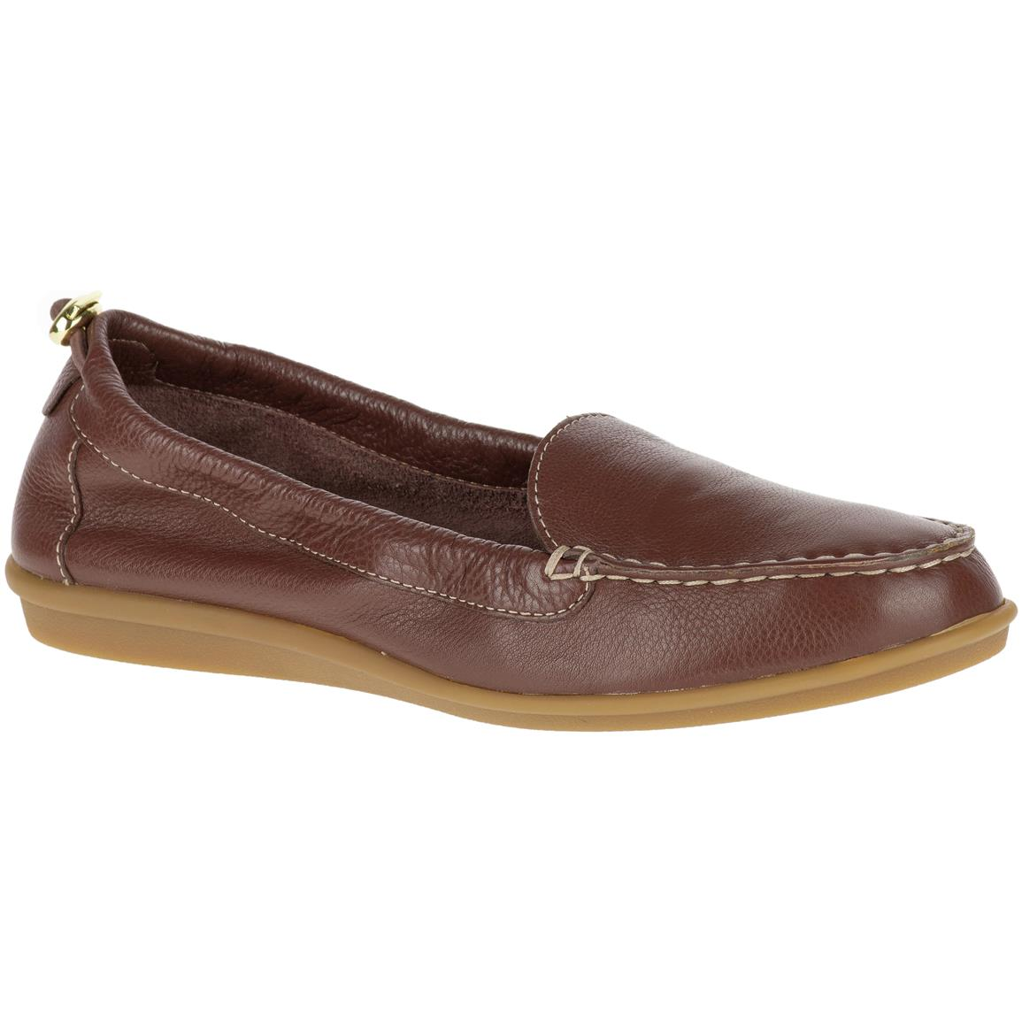 Hush Puppies Women's Endless Wink Casual Shoes, Dark Brown Leather