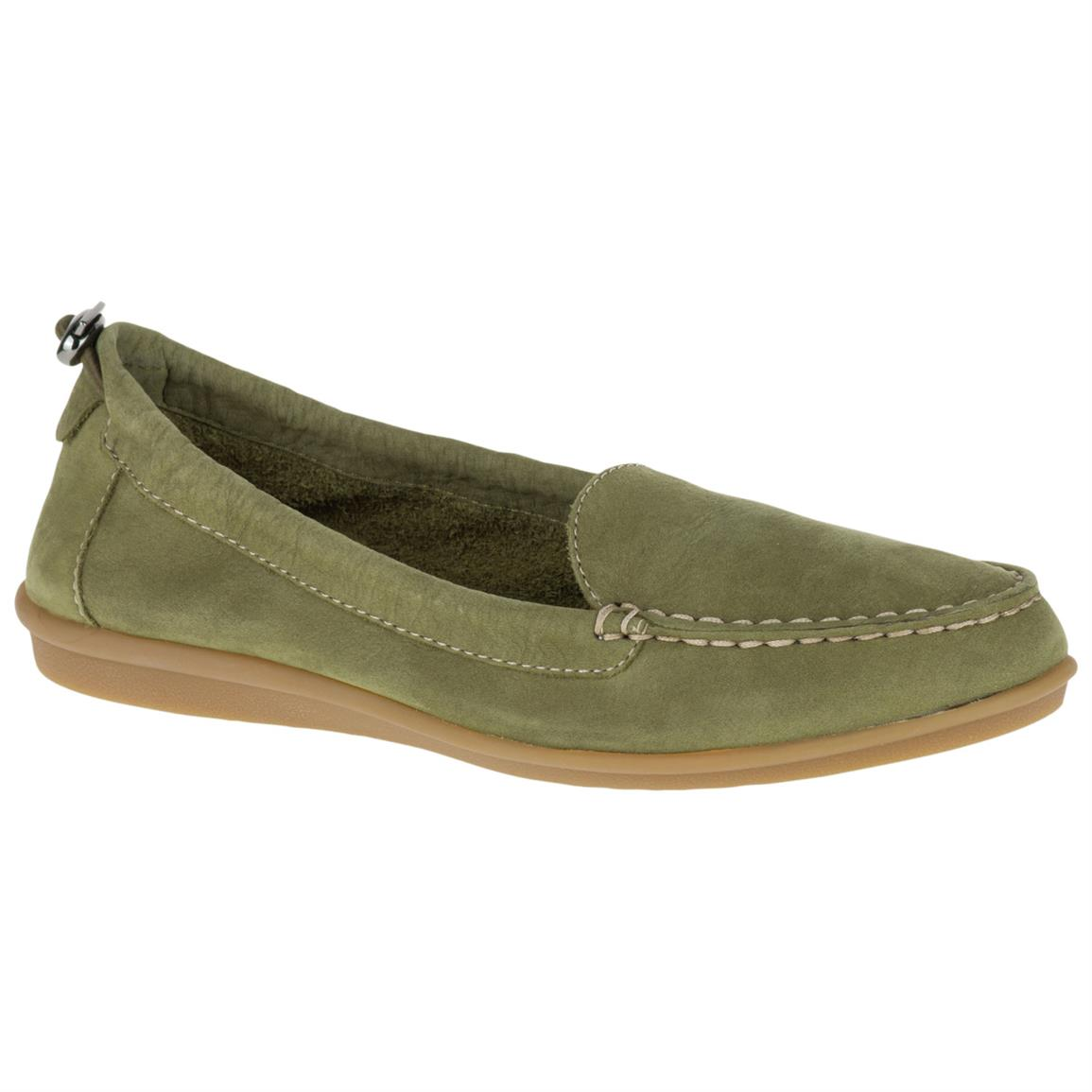 Hush Puppies Women's Endless Wink Casual Shoes, Olive Nubuck