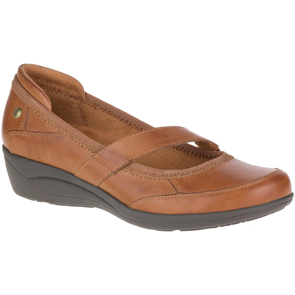 Hush Puppies Women's Velma Oleena Casual Shoes, Tan Leather