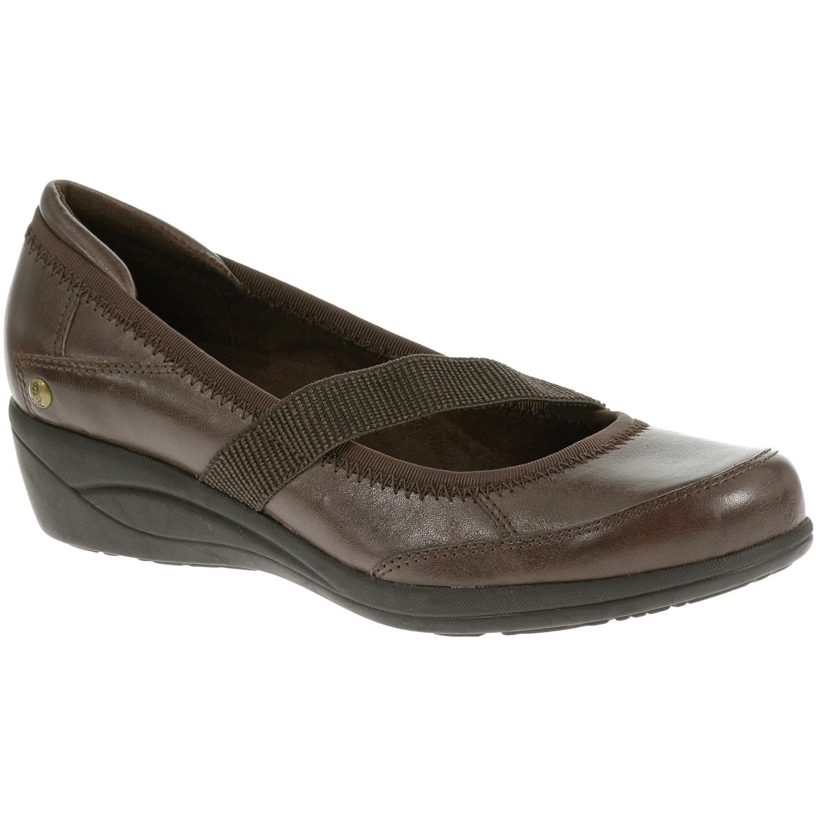 Hush Puppies Women's Velma Oleena Casual Shoes, Dark Brown Leather