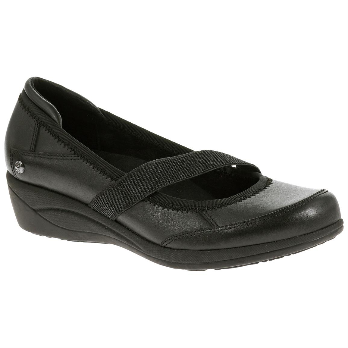 Hush Puppies Women's Velma Oleena Casual Shoes, Black Leather