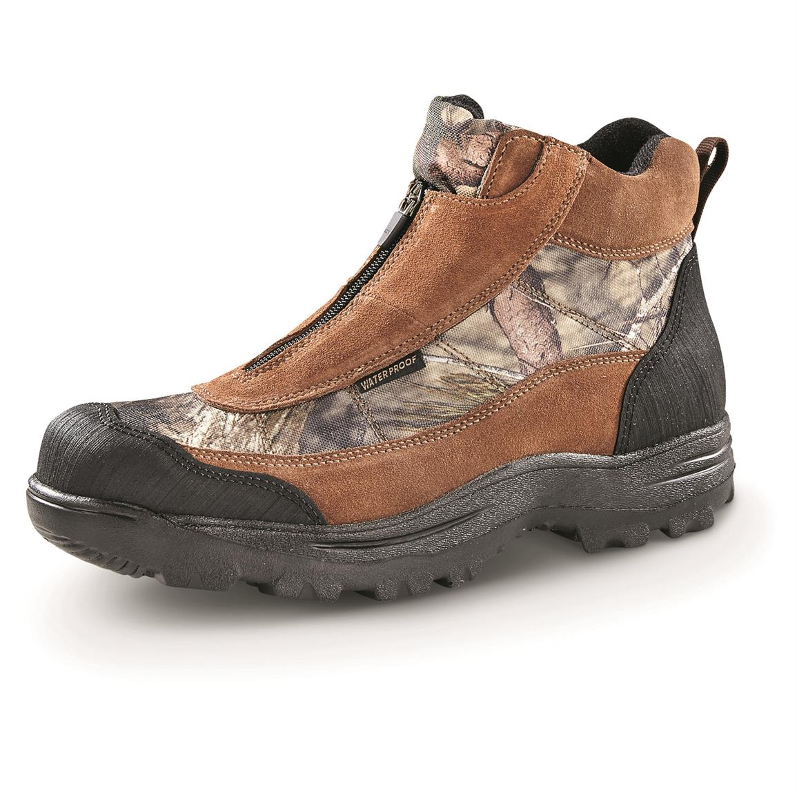 Guide Gear Men's Silvercliff II Mid Waterproof Hiking Boots, Mossy Oak Break-Up Country