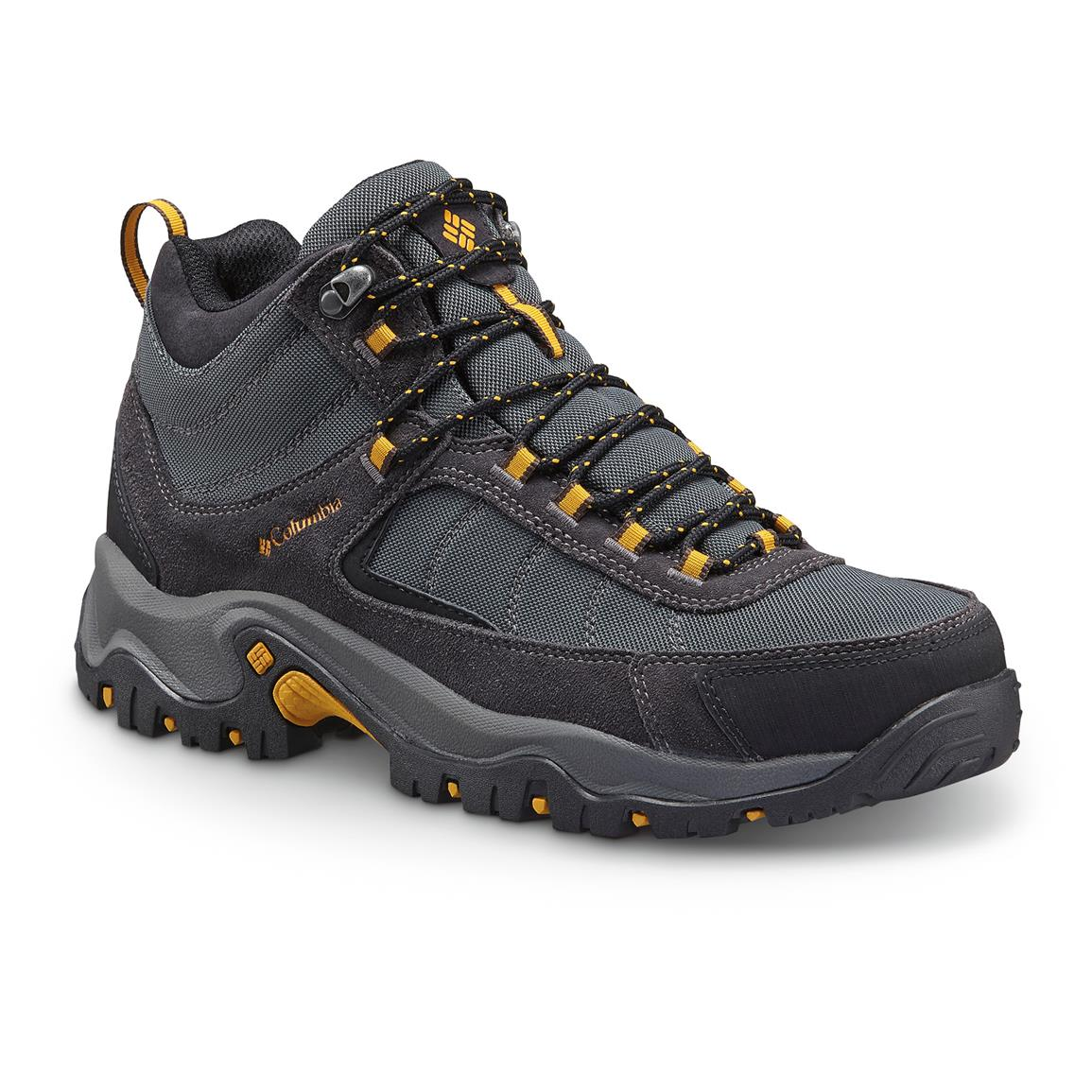 Columbia Men's Granite Ridge Waterproof Mid Hiking Boots, Dark Gray