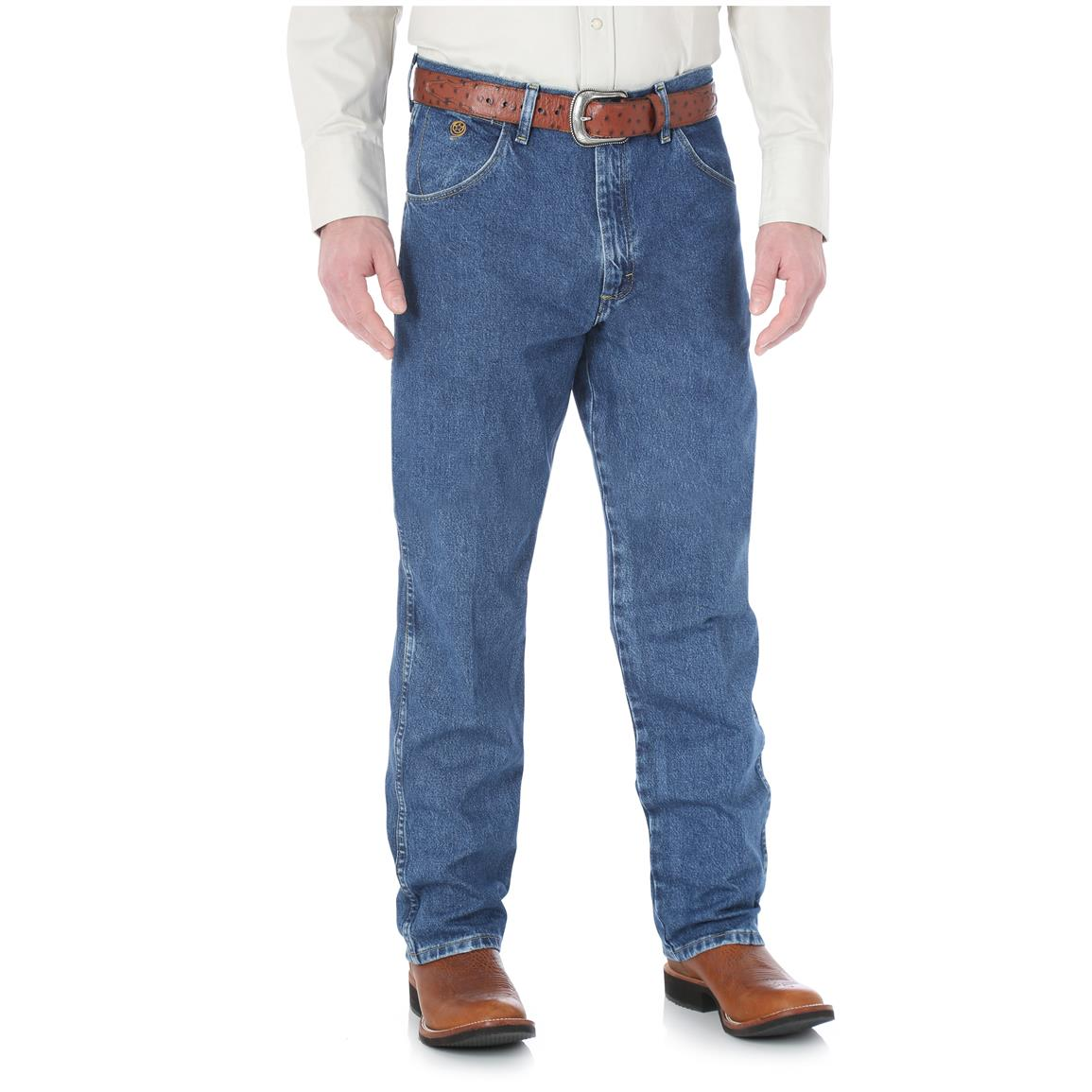 Wrangler George Strait Cowboy Cut Men's Relaxed Fit Jean, Denim