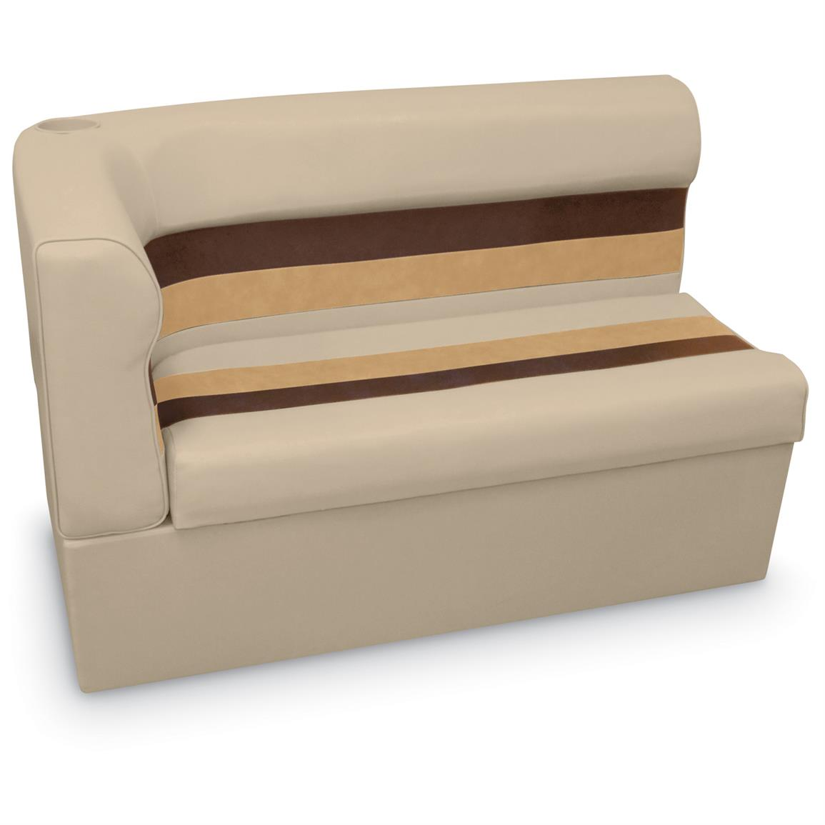 "Wise Long Corner Couch Pontoon Seat, 45"" Radius Right, Sand / Chestnut Gold, Color H"