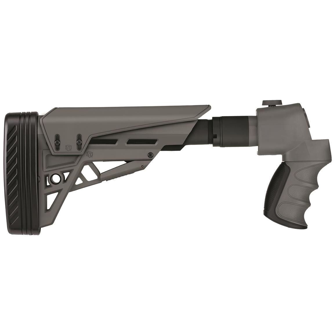 ATI TactLite StrikeForce Folding Shotgun Stock, Gray, for Mossberg / Remington / Winchester 12 Gauge