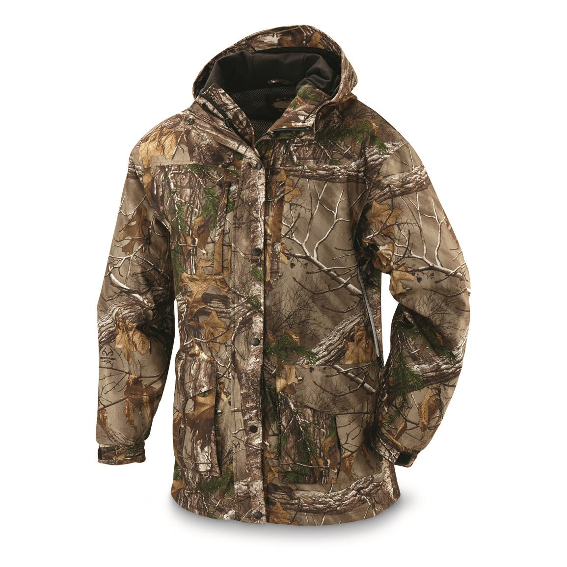 Guide Gear Men's Wood Creek Packable Rain Parka, Mossy Oak Break-Up Country