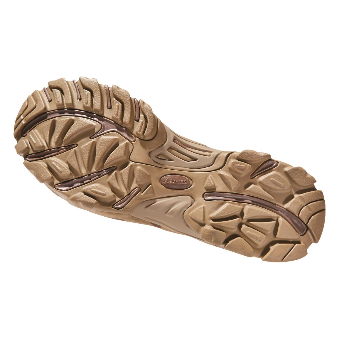 Rubber outsole with torsion control for exceptional stability while climbing, scaling, etc.