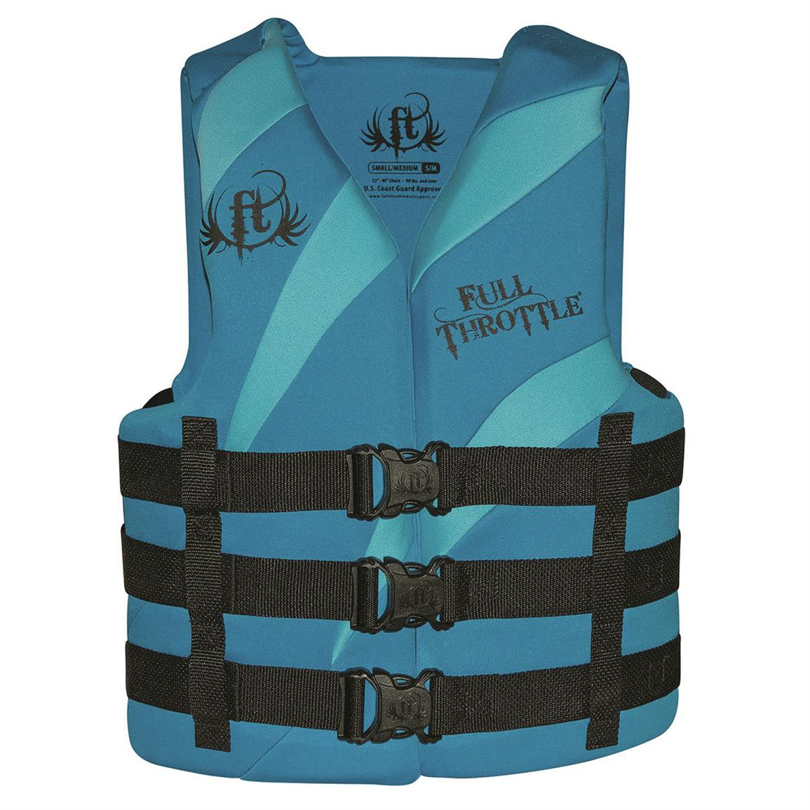 Full Throttle Adult Rapid-Dry Vest, Aqua