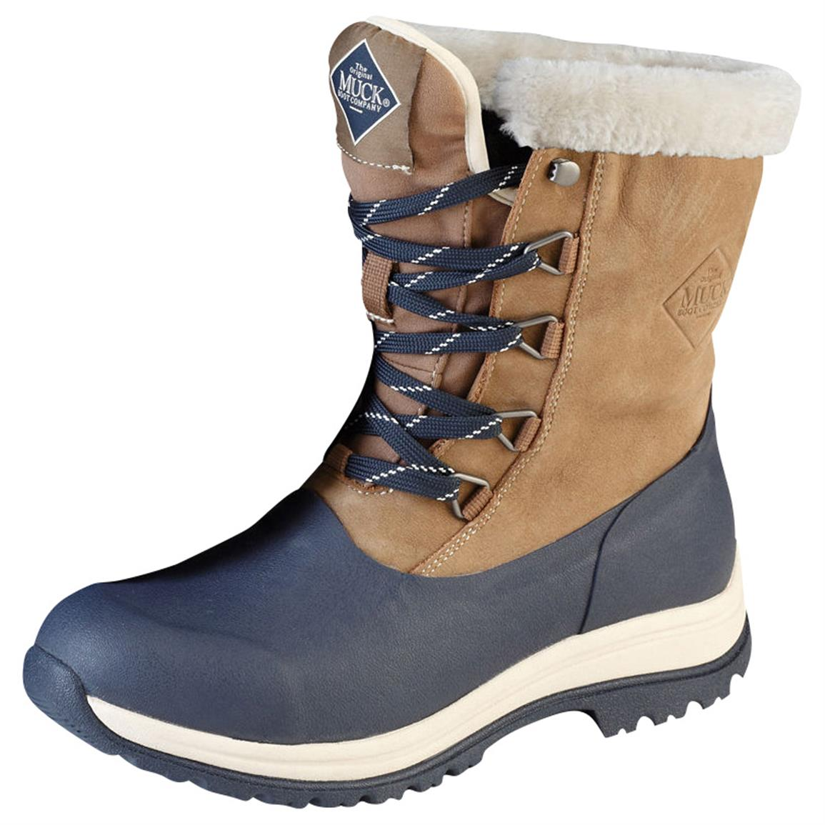 Muck Boot Women's Arctic Apres Lace Winter Boots, Otter