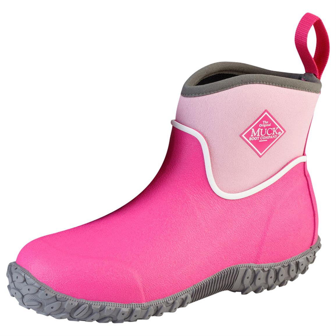 Muck Boot Kids' Muckster II Ankle Waterproof Boots, Pink