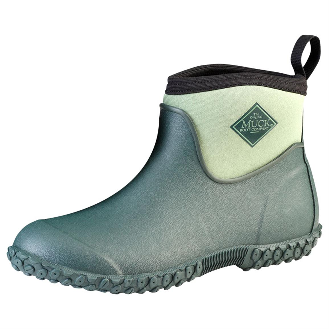 The Original Muck Boot Company Women's Muckster II Boots, Waterproof, Ankle, Green