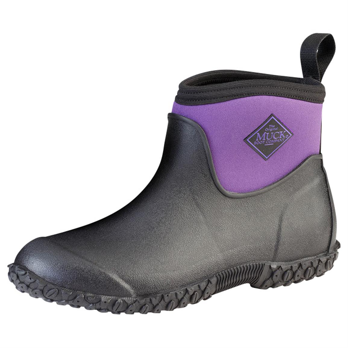 The Original Muck Boot Company Women's Muckster II Boots, Waterproof, Ankle, Black / Purple