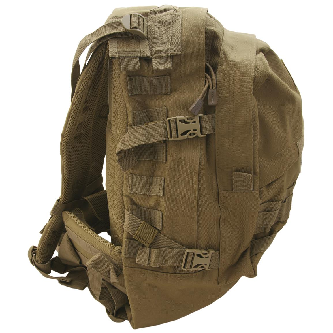 Humvee Day Pack Gear Bag, Tan, Side