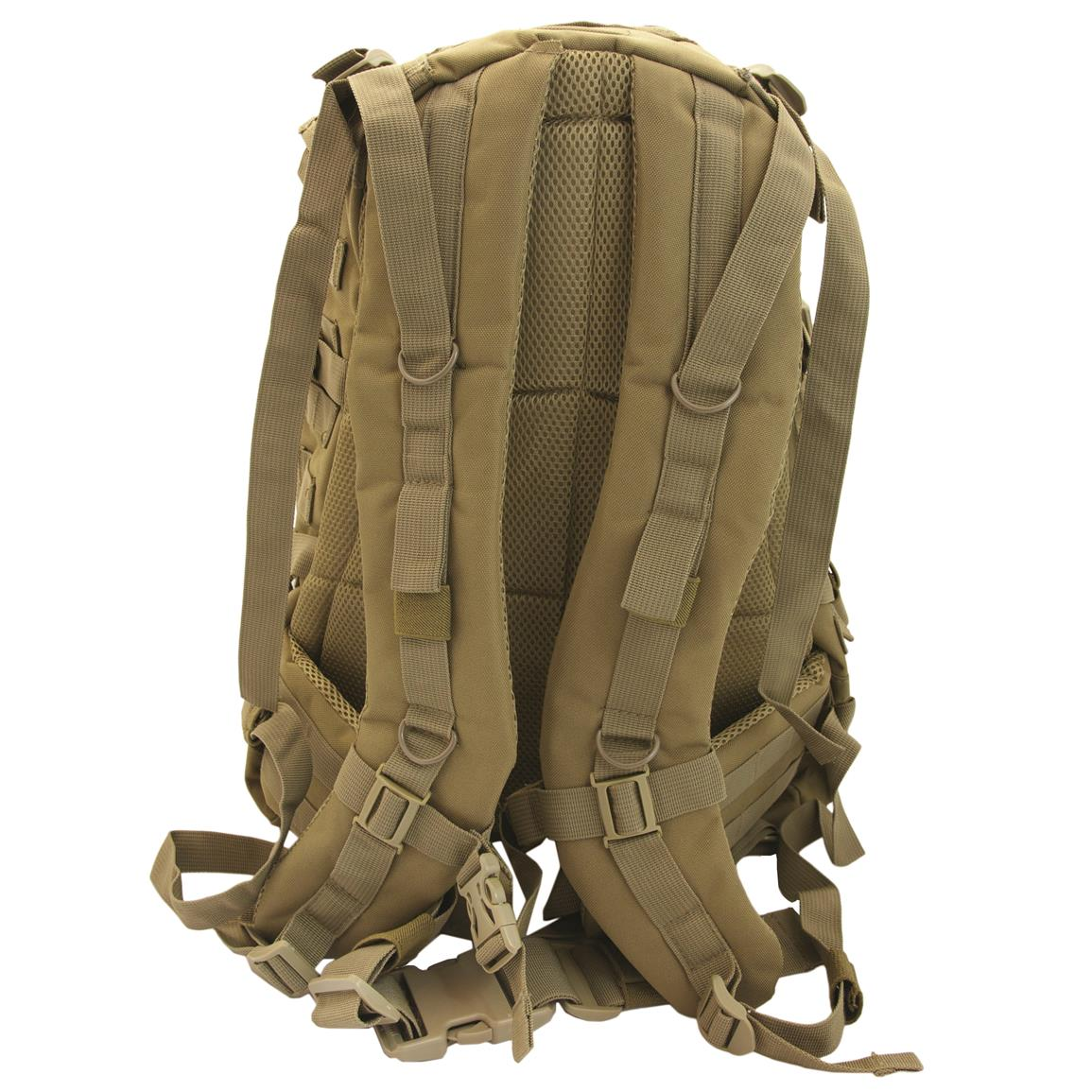 Humvee Day Pack Gear Bag, Tan, Back