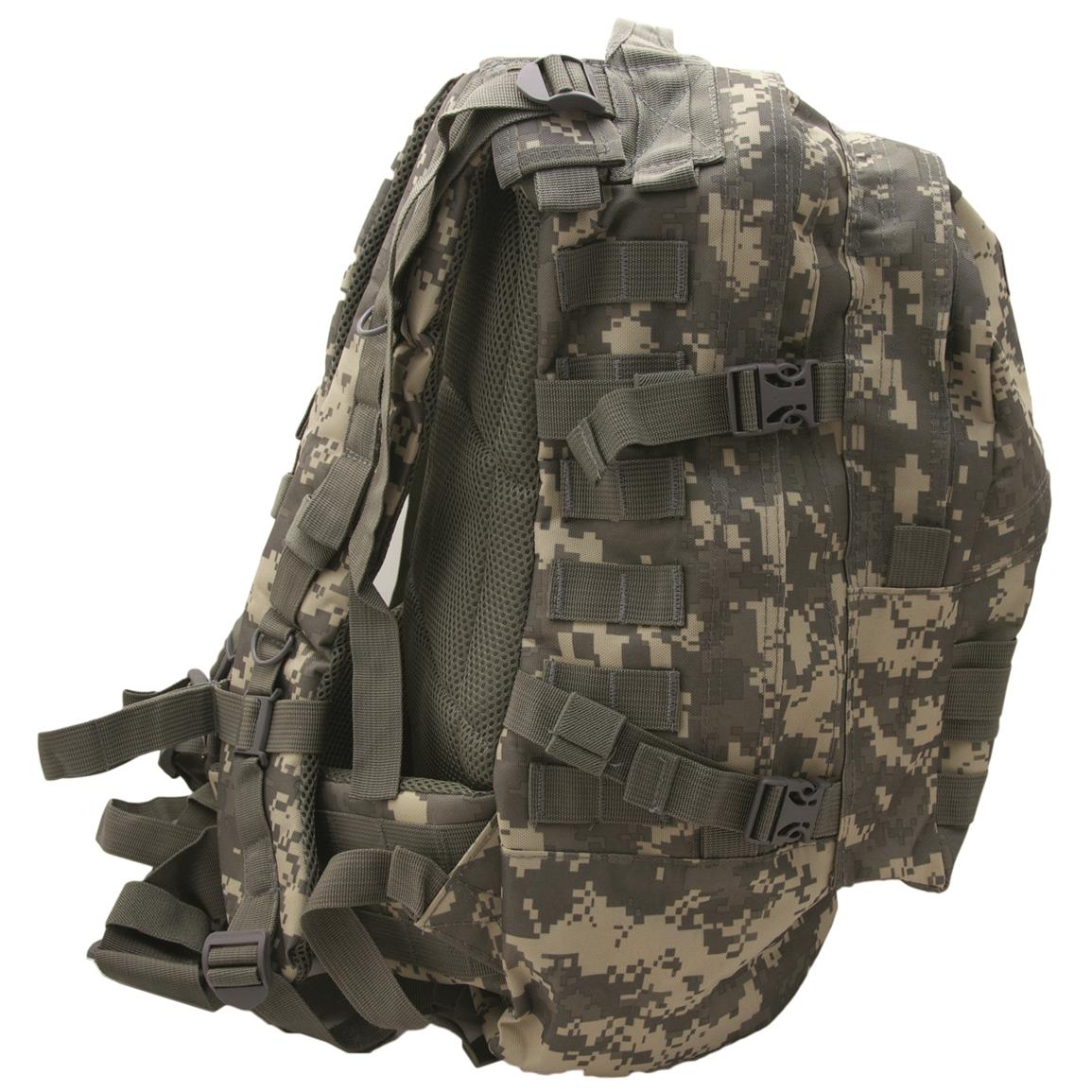 Humvee Day Pack Gear Bag, Digital Camo, Side