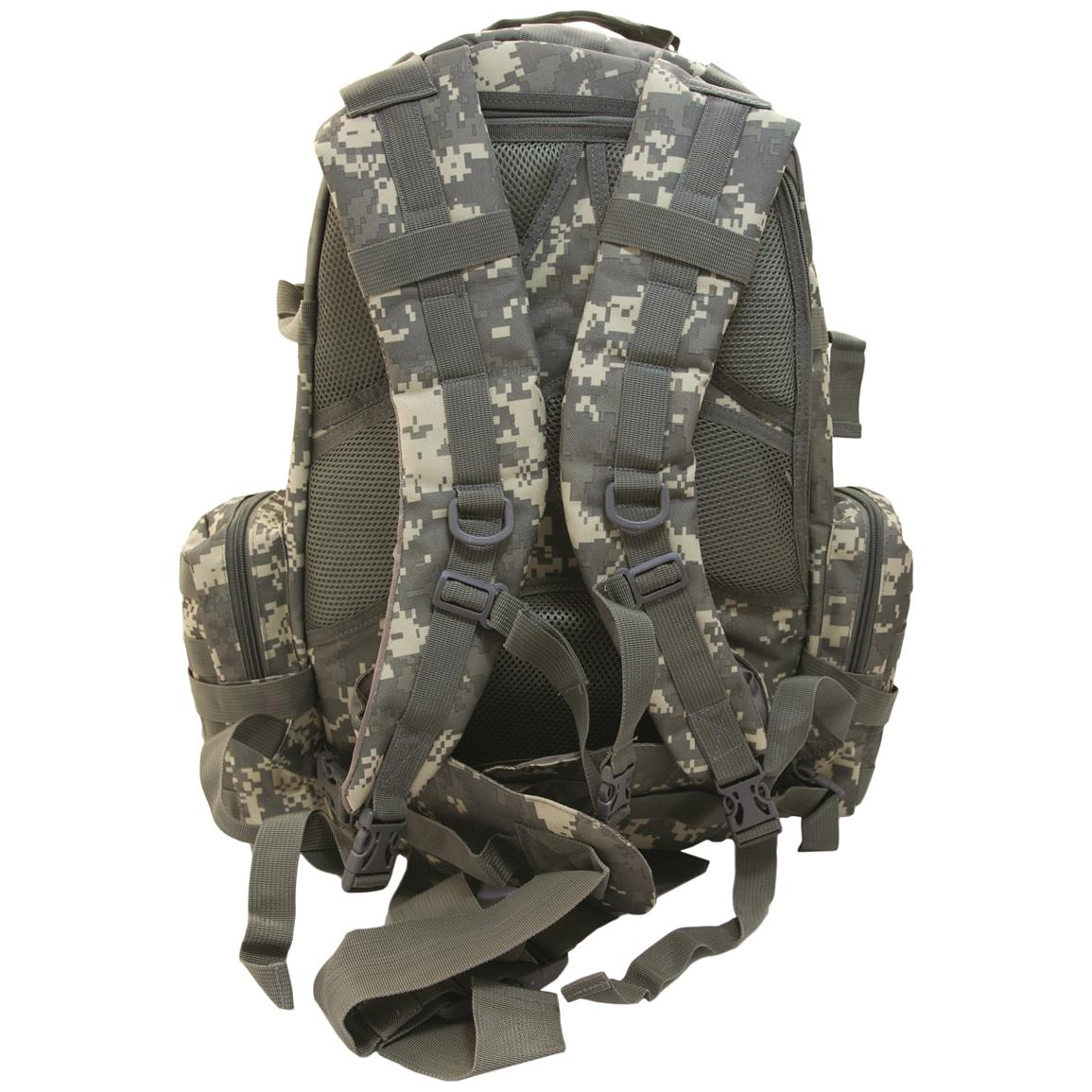 Humvee 3-Day Assault Backpack, Digital Camo, Back