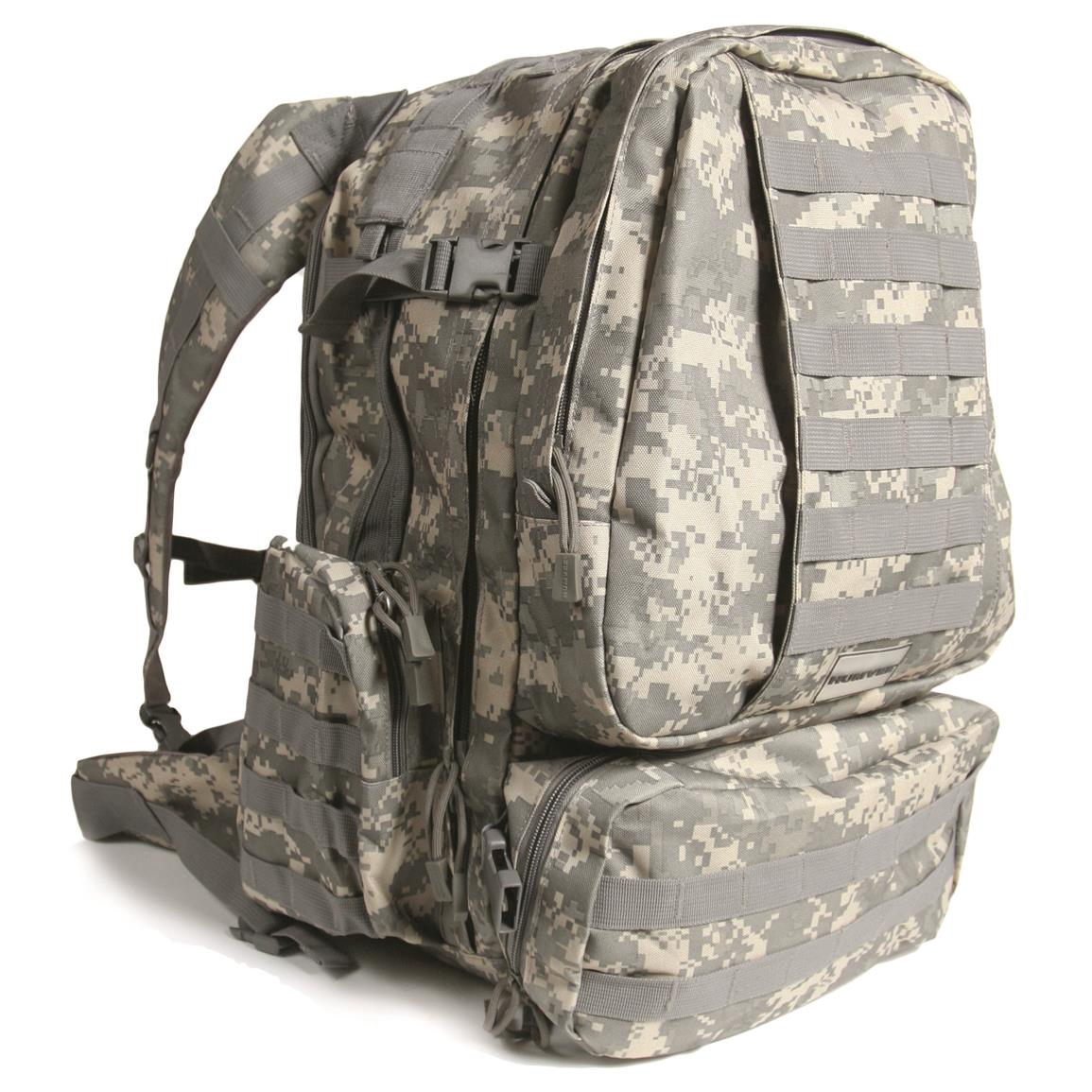 Humvee 3-Day Assault Backpack, Digital Camo, Side
