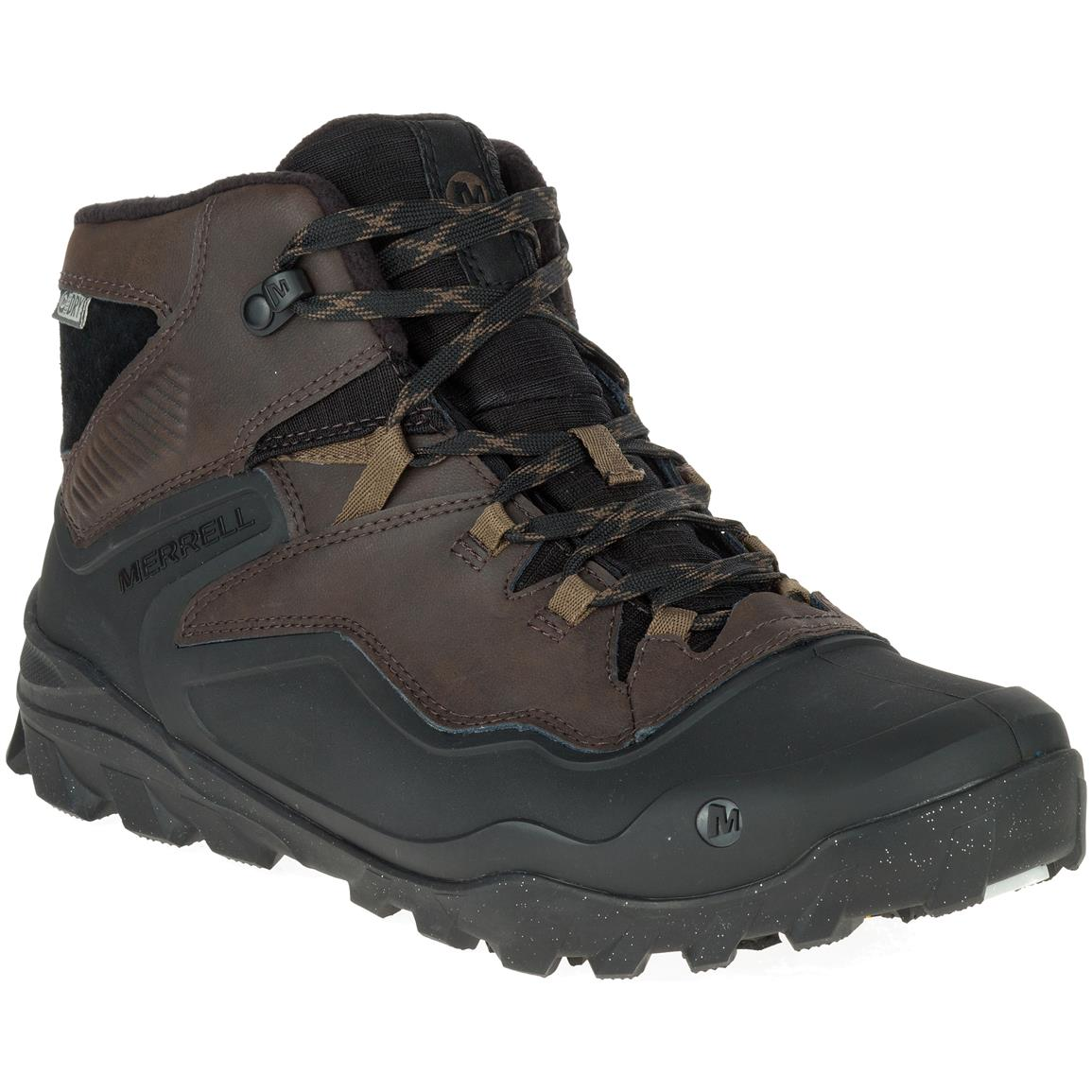 Merrell Men's Overlook 6 Ice+Waterproof Hiking Boots, 200 Gram Insulation, Espresso