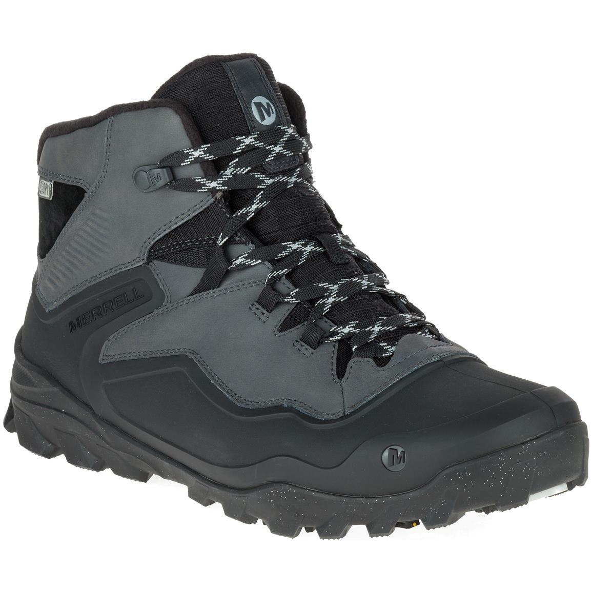 Merrell Men's Overlook 6 Ice+Waterproof Hiking Boots, 200 Gram Insulation, Granite