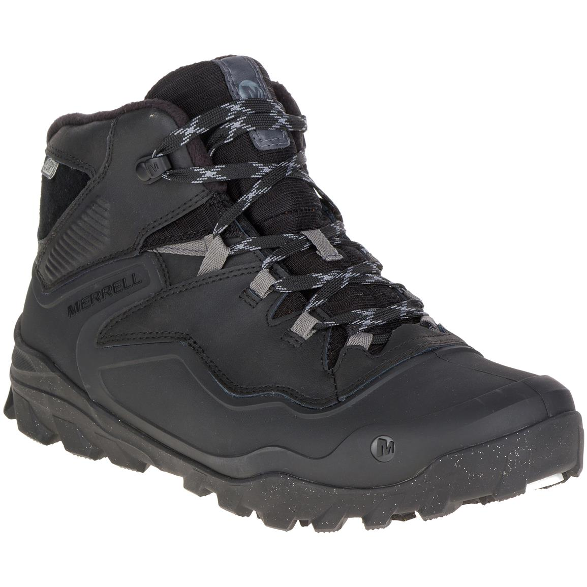 Merrell Men's Overlook 6 Ice+Waterproof Hiking Boots, 200 Gram Insulation, Black