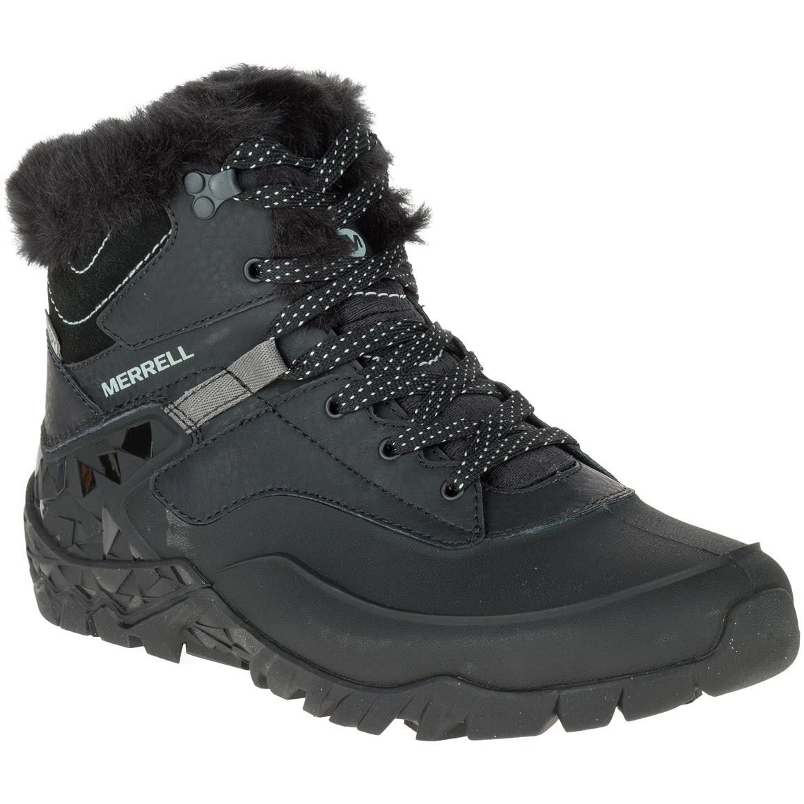 Merrell Women's Aurora 6 Ice+Waterproof Hiking Boots, Black