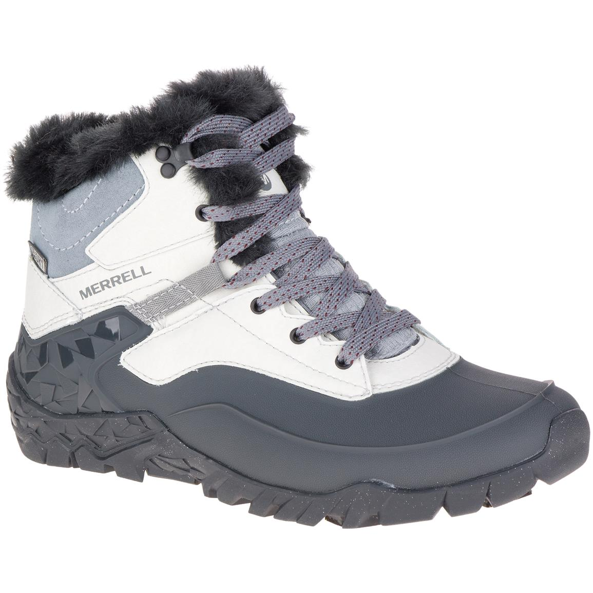 Merrell Women's Aurora 6 Ice+Waterproof Hiking Boots, Ash