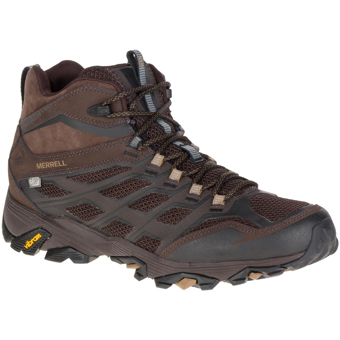 Merrell Men's Moab FST Mid Waterproof Hiking Boots, Brown