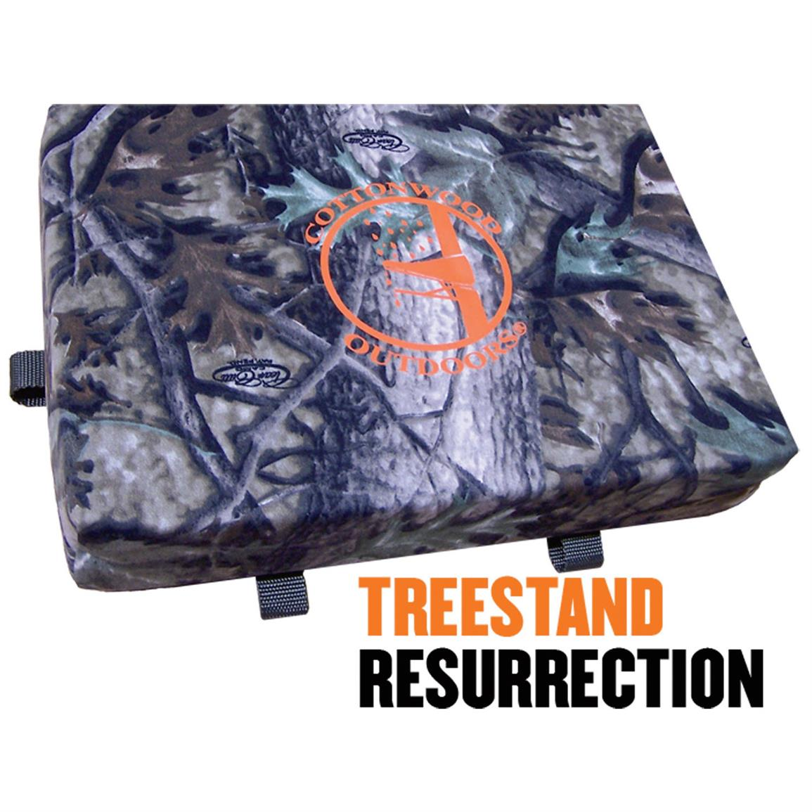 Cottonwood Outdoors Weathershield Standard Seat Cushion, Clear Cutt Camo