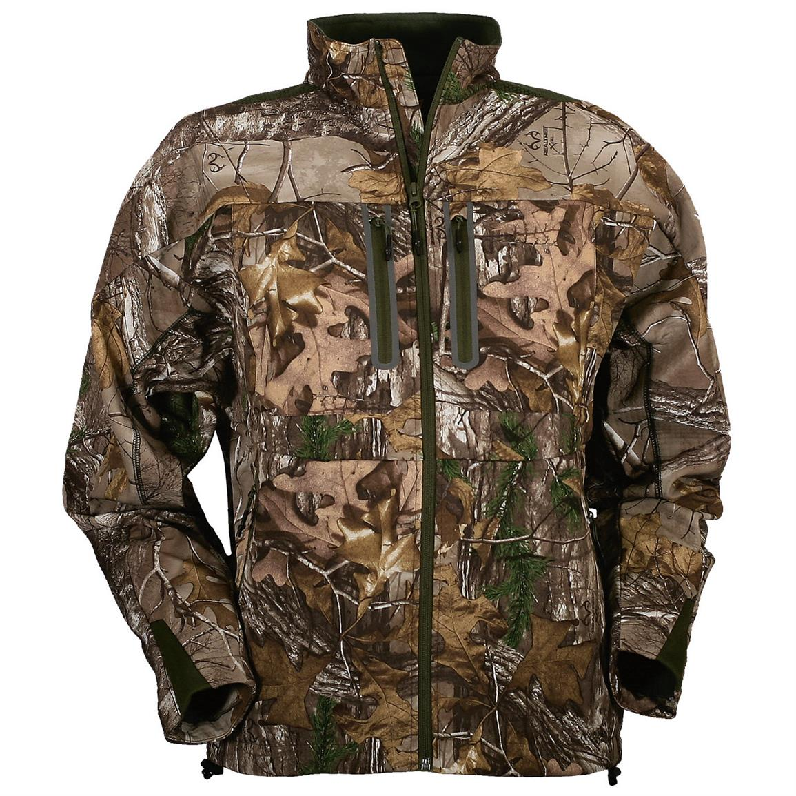 Men's Slam Seeker Camo Fleece Hunting Jacket, Realtree Xtra