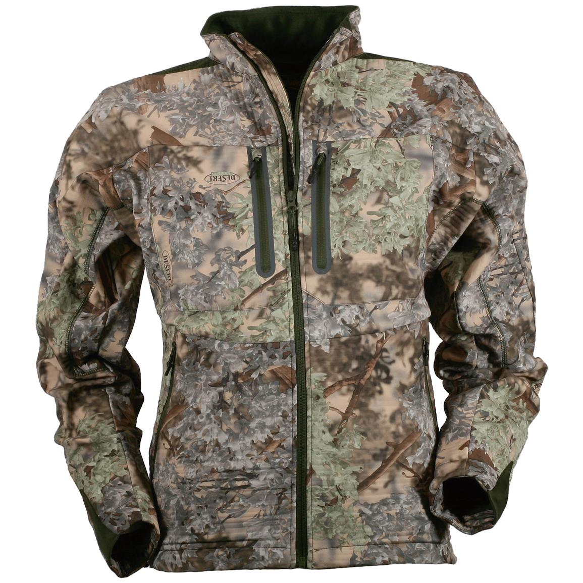 Men's Slam Seeker Camo Fleece Hunting Jacket, Desert Shadow