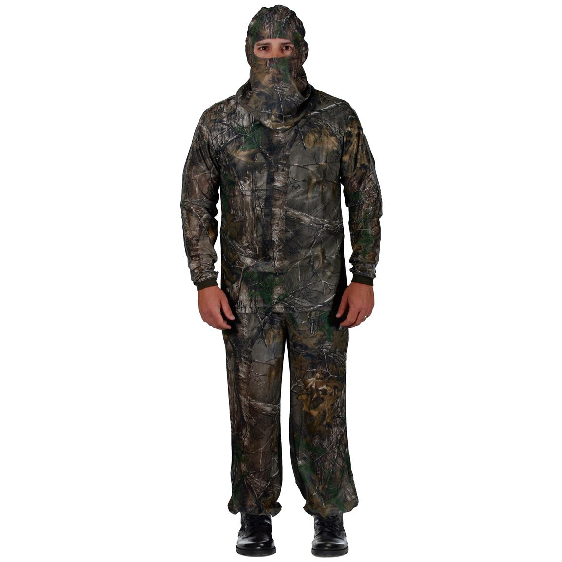 HECS Stealthscreen 3 Piece Concealment Suit, Realtree Xtra
