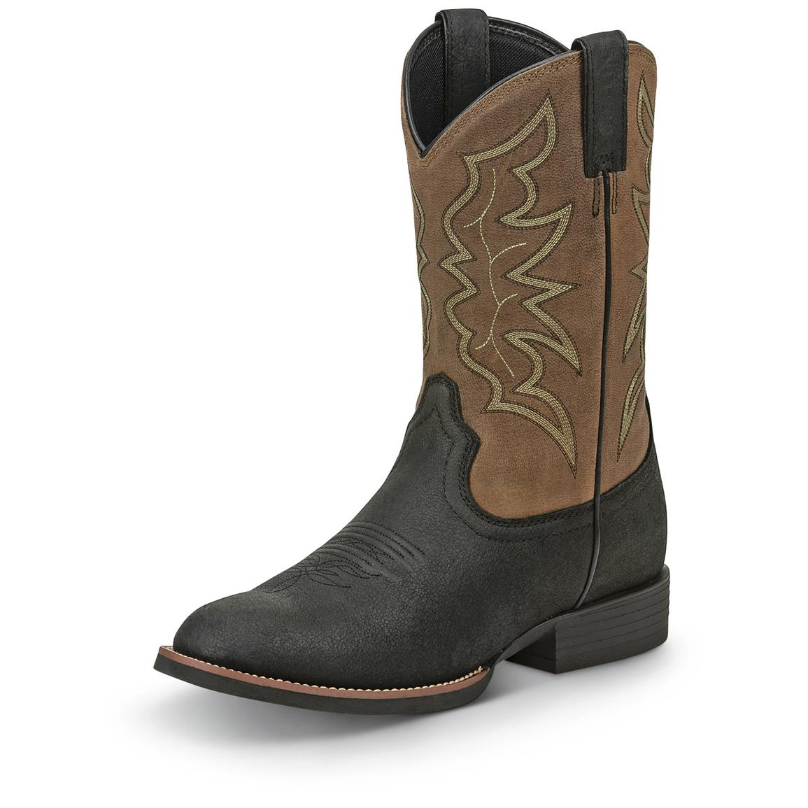 Justin Men S Stampede Round Toe Western Boots 676213