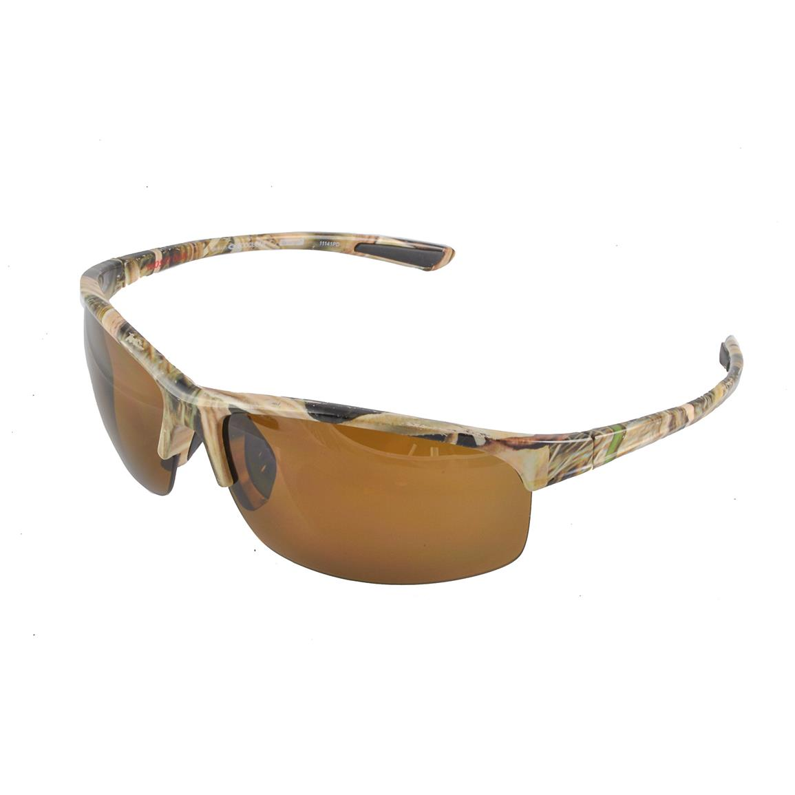 Neoptx Mossy Oak Men's Tournament Polarized Sunglasses, Mossy Oak Shadow Grass