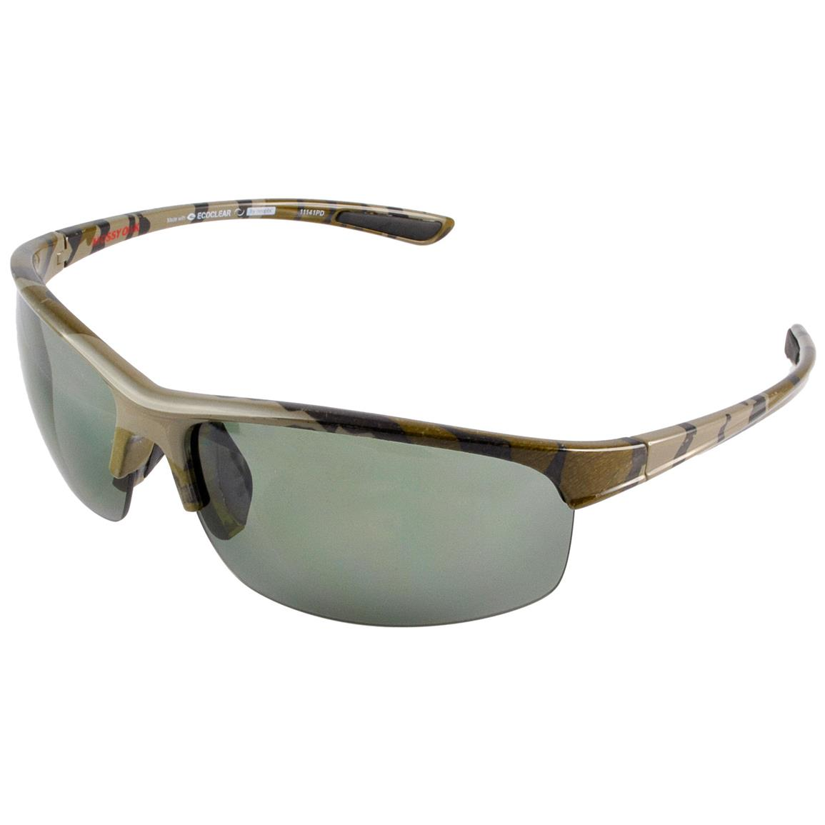 Neoptx Mossy Oak Men's Tournament Polarized Sunglasses, Bottomland
