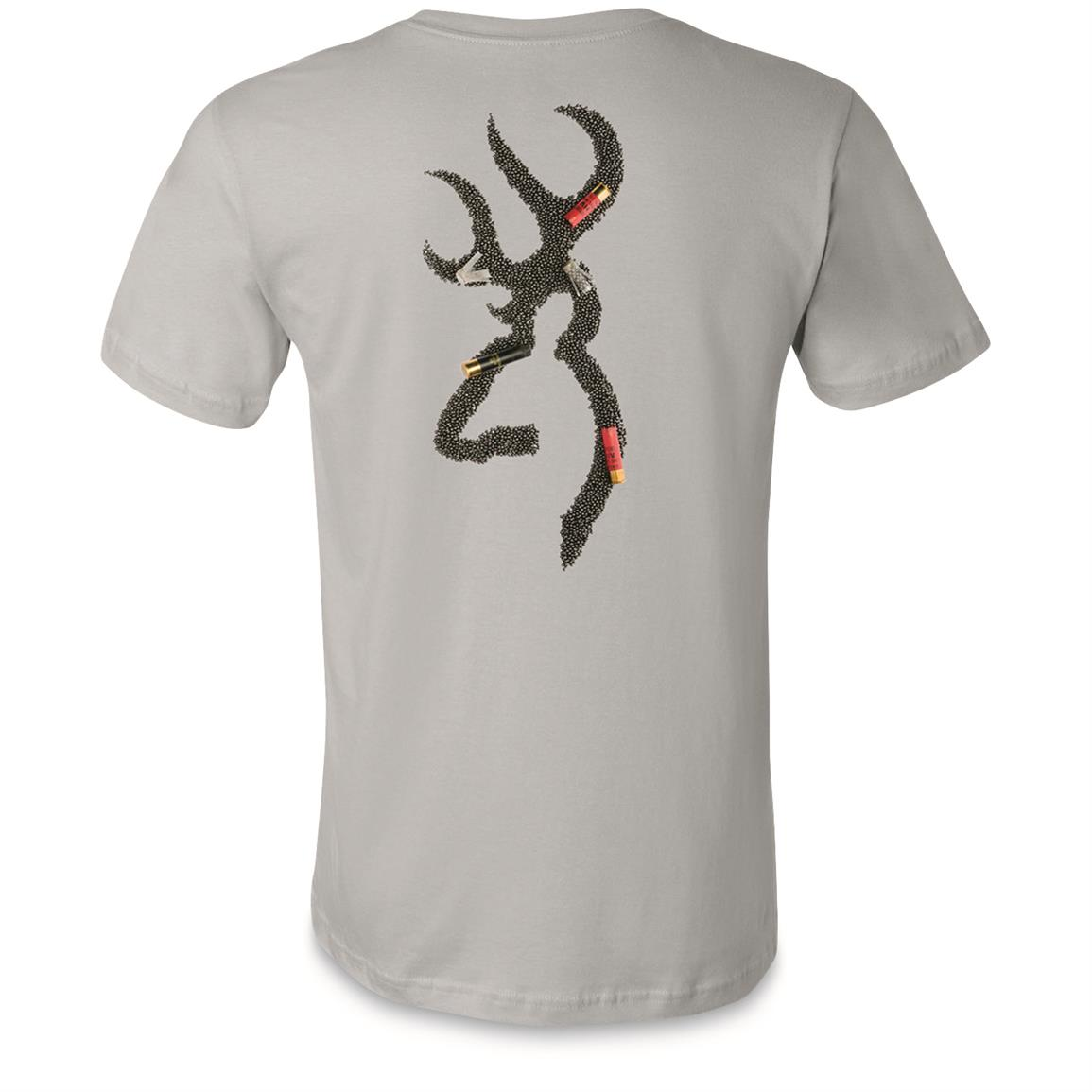 Browning Men's Shot and Pheasant T-Shirt, Silver