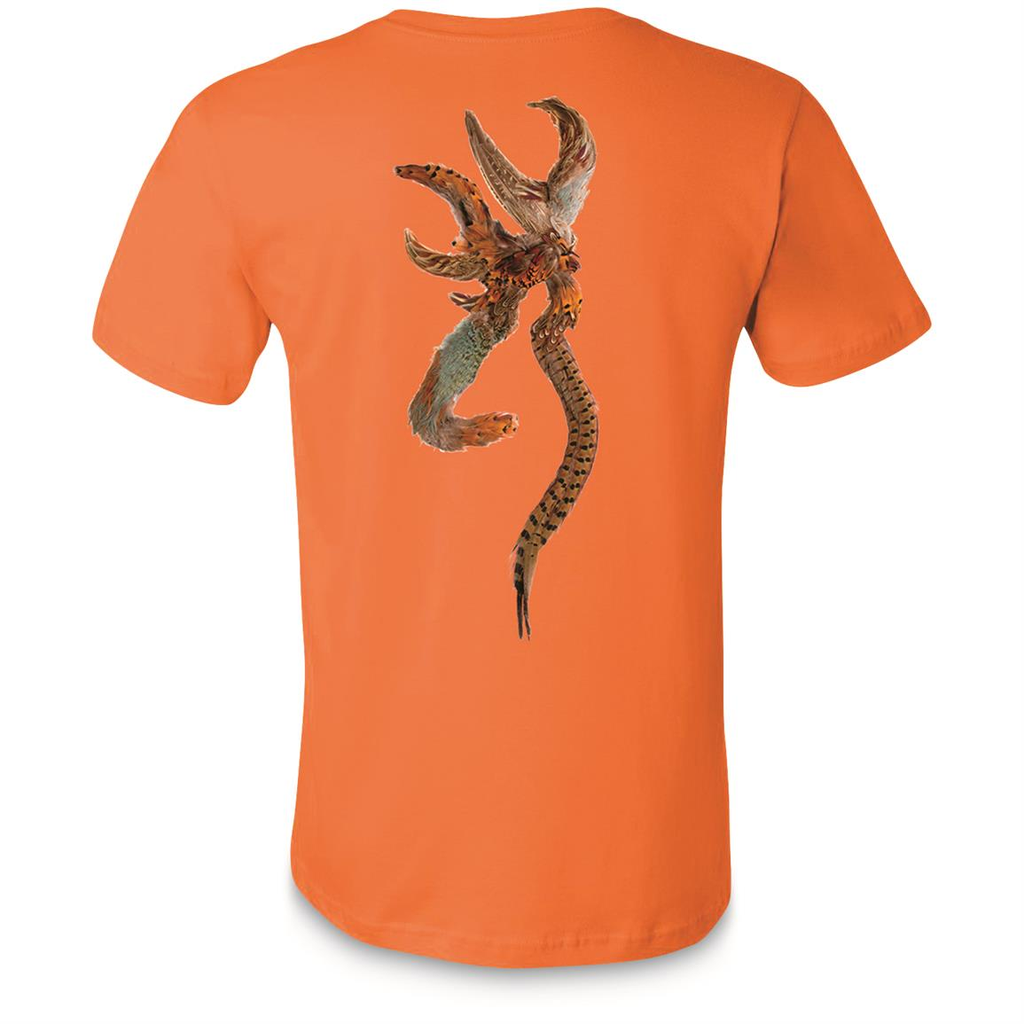 Browning Men's Shot and Pheasant T-Shirt, Burnt Orange
