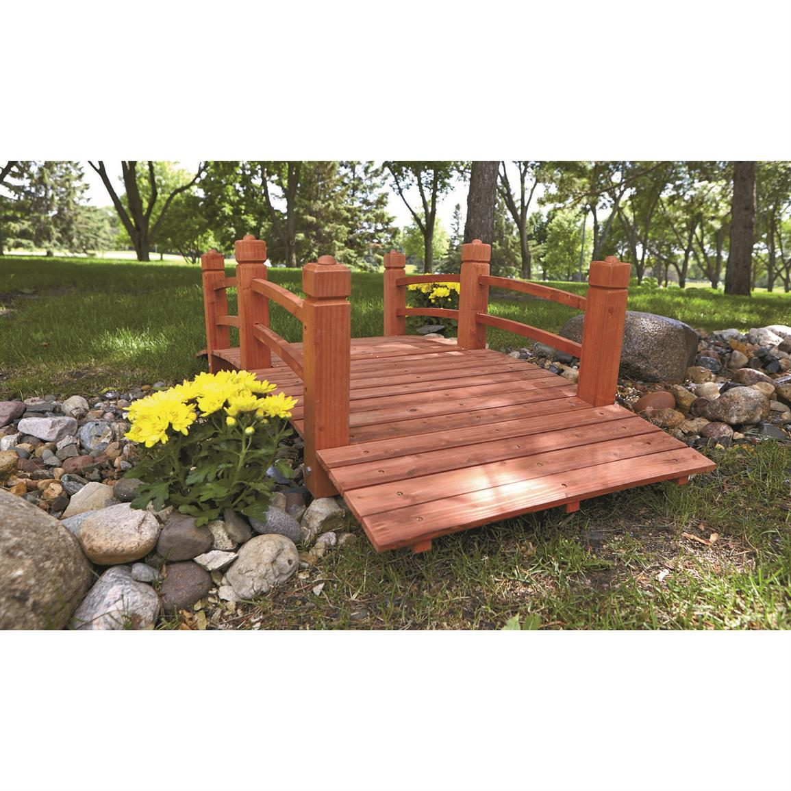 Place it near your garden, over a small creek, or anywhere you need a sturdy, attractive accent.