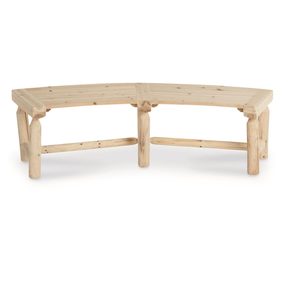 CASTLECREEK Log Fire Pit Bench
