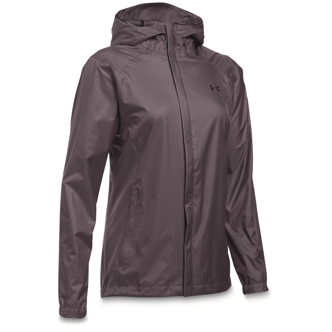 Under Armour Women's Waterproof/Windproof Bora Jacket, Flint/Imperial Purple