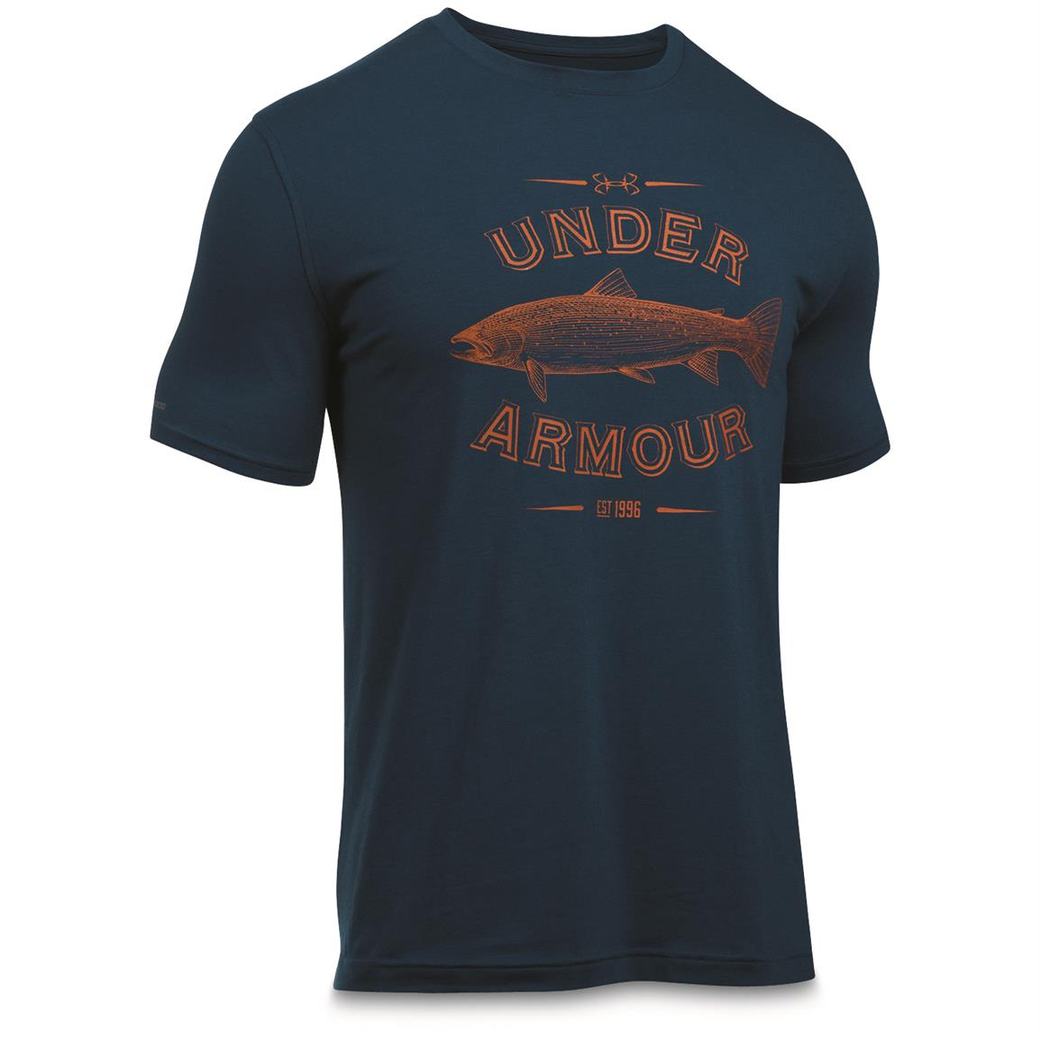 Under Armour Men's Classic Fish Tees, Trout/Blackout Navy