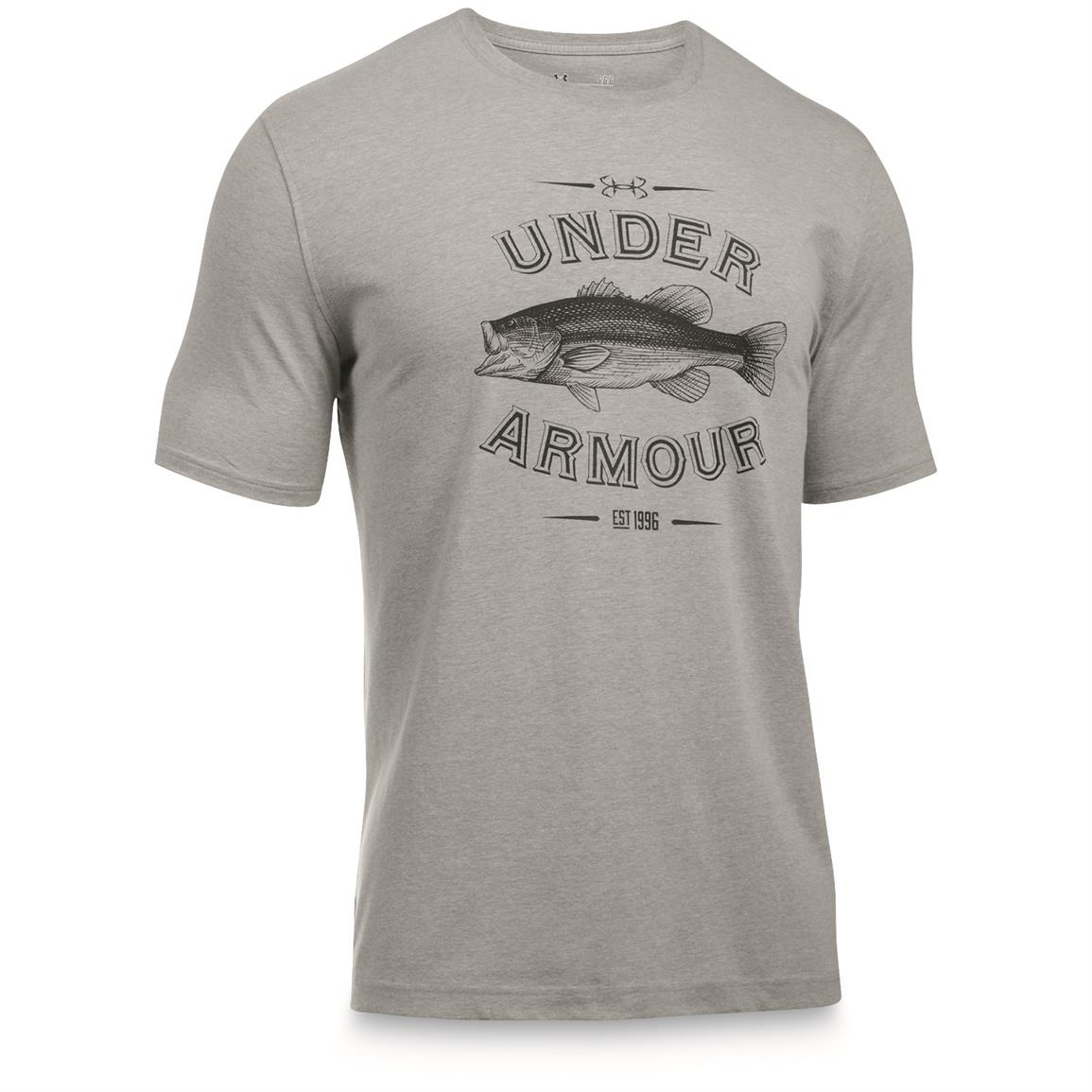 Under Armour Men's Classic Fish Tees, Bass/True Gray Heather