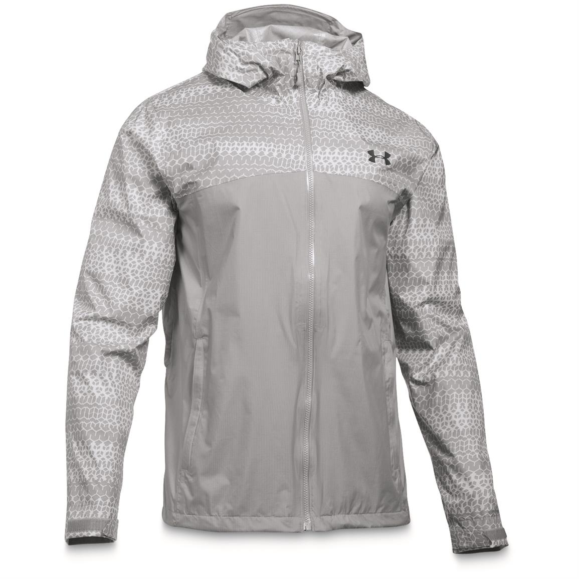 Under Armour Men's Waterproof/Windproof Surge Jacket, Overcast Gray
