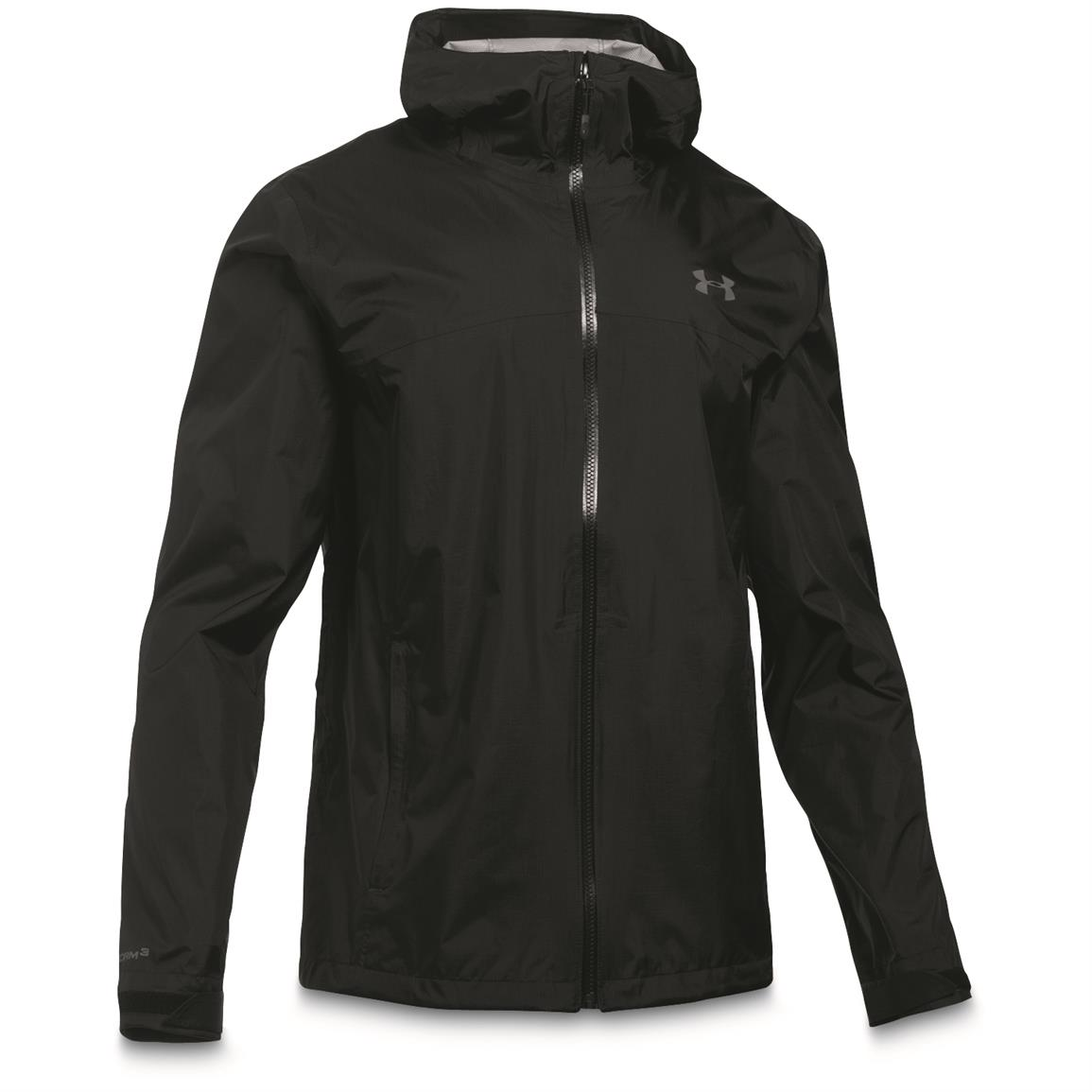 Under Armour Men's Waterproof/Windproof Surge Jacket, Black/Graphite