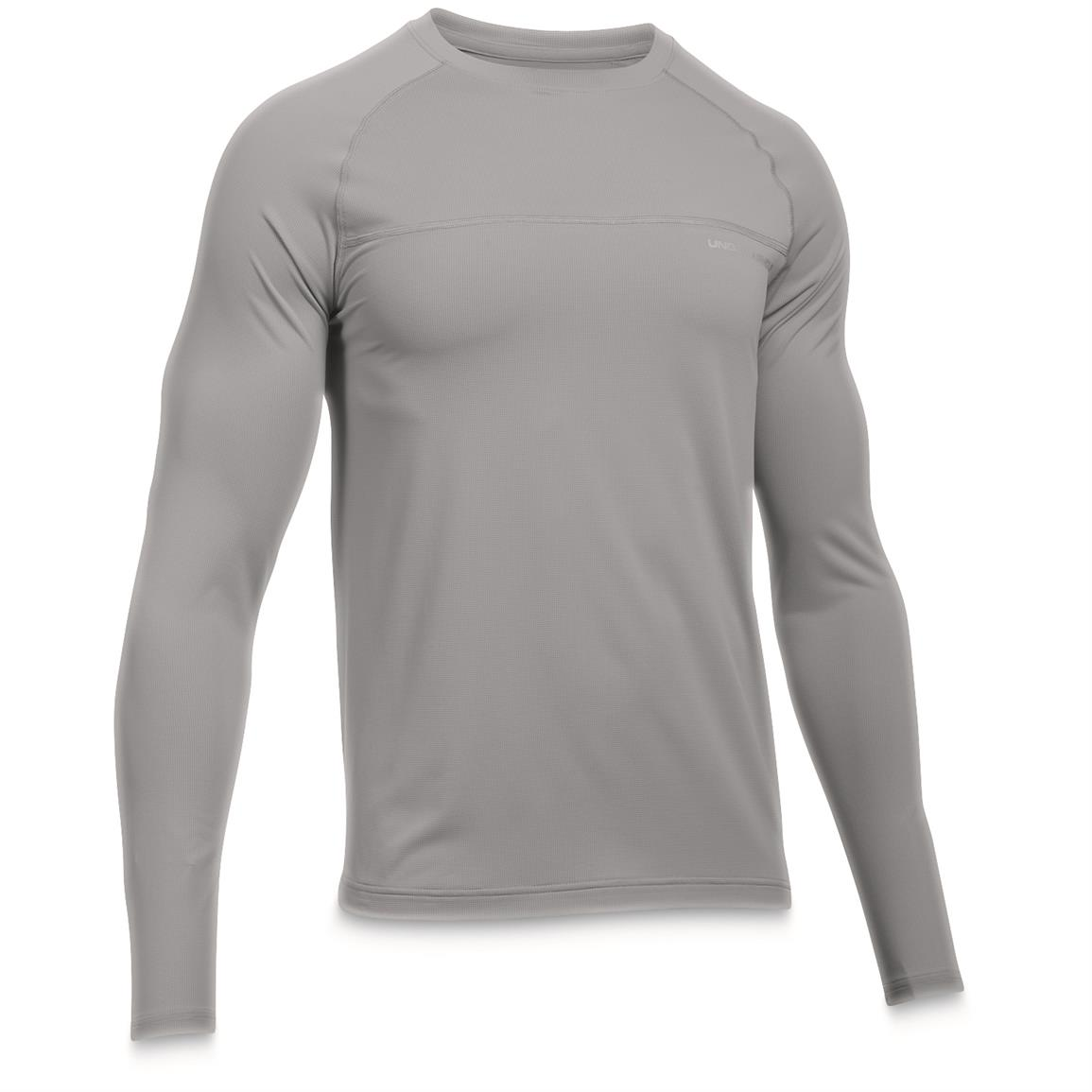 Under Armour Men's Sunblock Long Sleeve Tee, UPF 50+, Overcast Gray