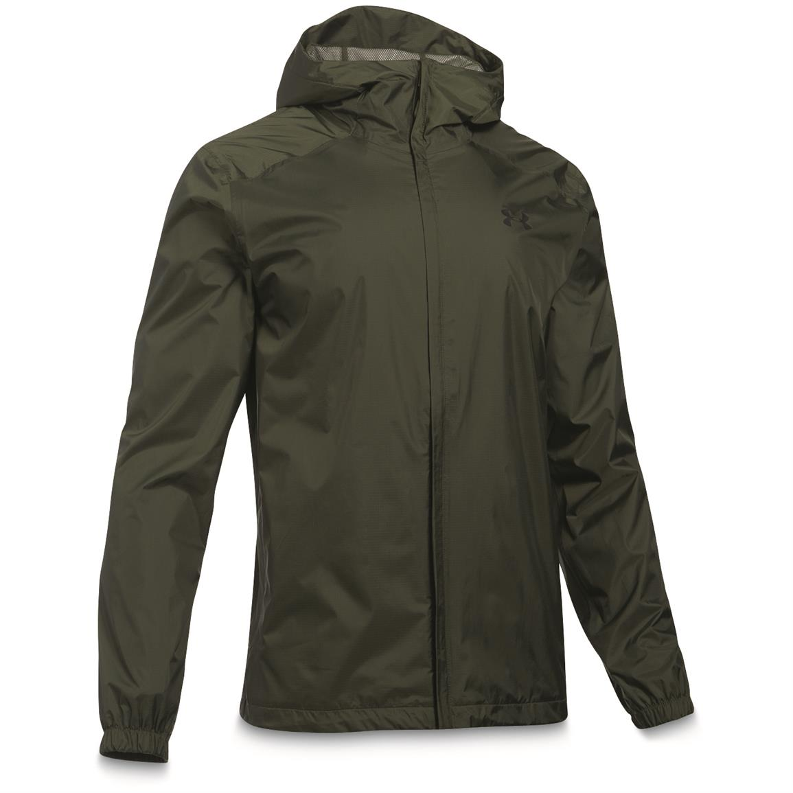 Under Armour Men's Waterproof / Windproof Bora Jacket, Downtown Green